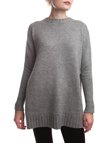 French Connection Core Wool-Cashmere Blend Sweater-GREY-Medium 88756239_GREY_Medium