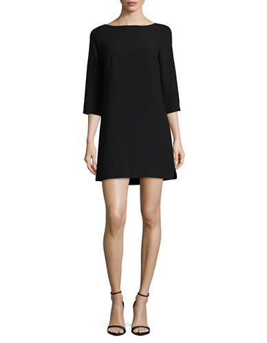French Connection Boat Neck Dress-BLACK-4
