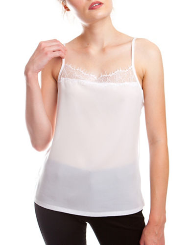 French Connection Polly Plain Tank Top-WHITE-X-Small 88756170_WHITE_X-Small