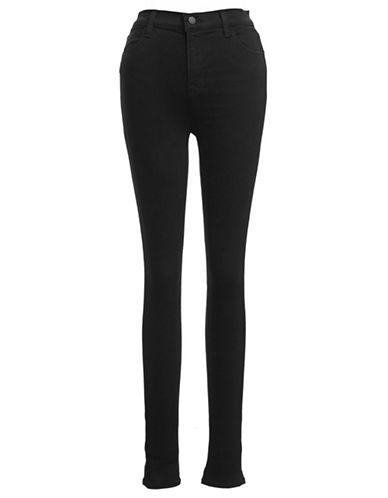 J Brand High Rise Skinny Jeans-BLACK-27