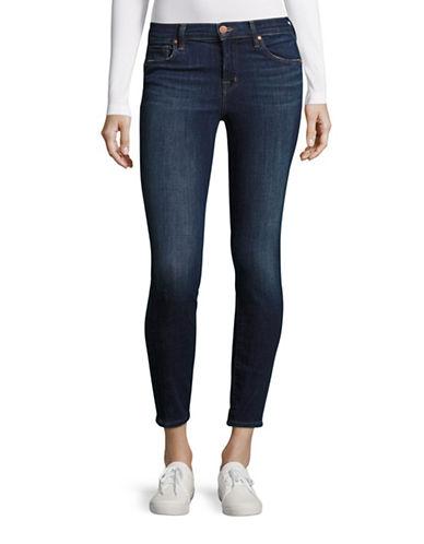 J Brand Mid Rise Capri Jeans-BLUE-31