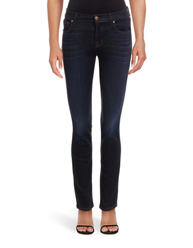 J Brand 811 Mid-Rise Skinny Jeans-BLUE-32