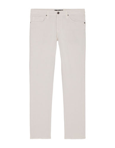 J Brand Tyler Slim Fit Thrashed Jeans-WHITE-34X34