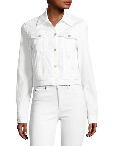 J Brand Harlow Shrunken Denim Jacket-WHITE-Large 89147376_WHITE_Large