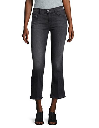 J Brand Selena Cropped Bootcut Jeans-BLACK-30