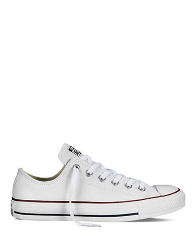 Converse Womens Chuck Taylor All Star Seasonal Leather Sneakers-WHITE-8.5