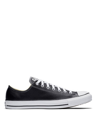 Converse Chuck Taylor All Star Leather Shoes-BLACK-8.5
