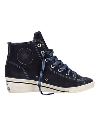 CONVERSE Chuck Taylor All Star Suede  Winter Lining HiNess navy Size 75
