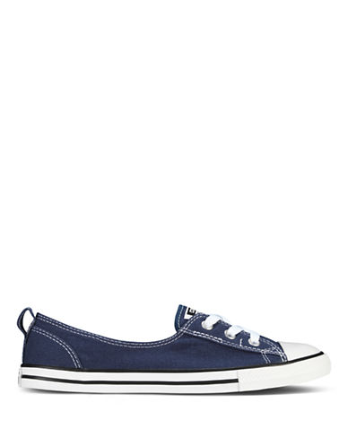 Converse Womens Chuck Taylor All Star Canvas Ballet Lace-NAVY-5.5