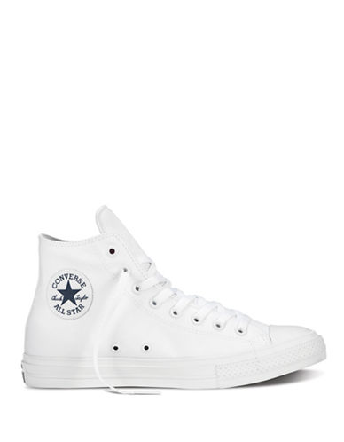 Converse Mens Chuck Taylor All Star II Tencel Canvas High-Top Sneakers-WHITE-10