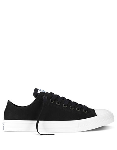 Converse Mens Chuck Taylor All Star II Tencel Canvas Low-Top Sneakers-BLACK-10