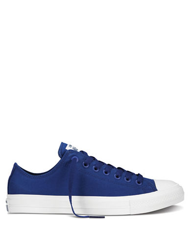 Converse Mens Chuck Taylor All Star II Tencel Canvas Low-Top Sneakers-SODALITE BLUE-9.5