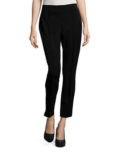 Ivanka Trump Seamed Ponte Pants-BLACK-Small 88939329_BLACK_Small