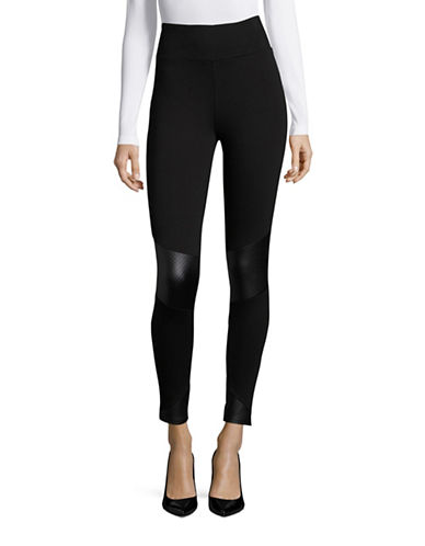 Kensie Quilted Leggings-BLACK-X-Small 88702540_BLACK_X-Small