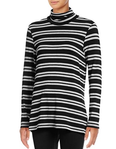 G.H. Bass & Co. Stripe Turtleneck Top-GREY-Small 88873738_GREY_Small