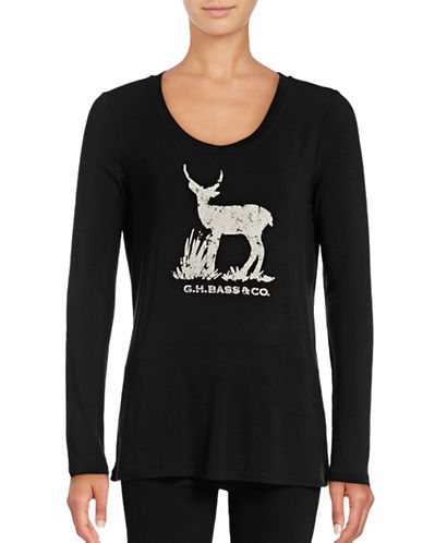 G.H. Bass & Co. Deer Graphic Tee-BLACK-X-Small 88795080_BLACK_X-Small