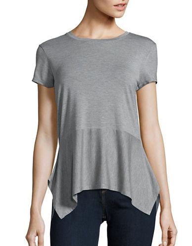 Ivanka Trump Drape Hem T-Shirt-GREY-X-Small 89114838_GREY_X-Small