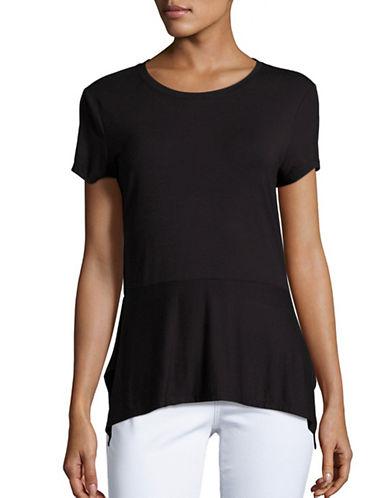 Ivanka Trump Stretch-Knit Top-BLACK-Medium 88972423_BLACK_Medium