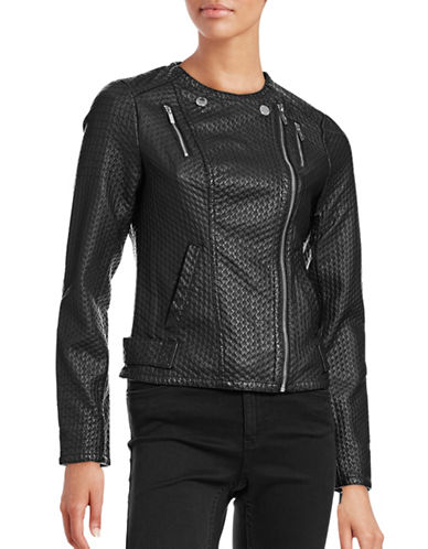 Karl Lagerfeld Paris Quilted Moto Biker Jacket-BLACK-Large 88582754_BLACK_Large