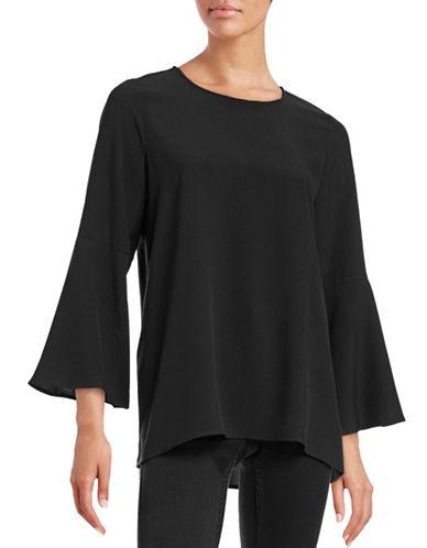 Kensie Bell Sleeve Top-BLACK-Large 88702458_BLACK_Large