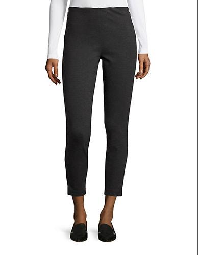 Ivanka Trump Slim Zip Detail Pants-GREY-X-Large 88760004_GREY_X-Large