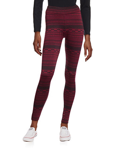 G.H. Bass & Co. Patterned Leggings-RED-Small 88716395_RED_Small