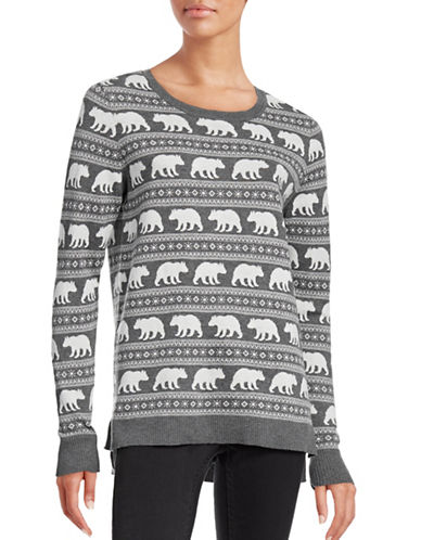 G.H. Bass & Co. Fair Isle Critter Sweater-GREY-Small 88716421_GREY_Small