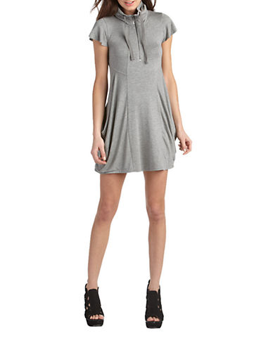 Kensie French Terry Dress-GREY-X-Large 85910549_GREY_X-Large