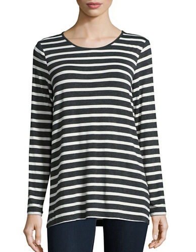 G.H. Bass & Co. Striped Knit Top-GREY-X-Small 88602148_GREY_X-Small