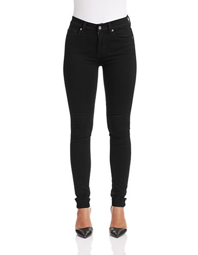 7 For All Mankind Slim Illusion High-Waist Jeans-BLACK-32