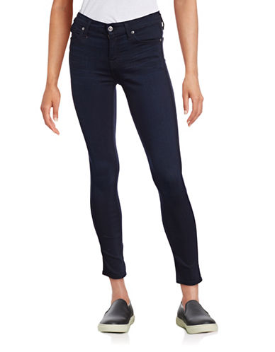 7 For All Mankind B-Air Ankle Skinny Jeans-DARK BLUE-24