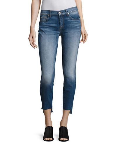 7 For All Mankind Step Hem Ankle Skinny Jeans-BLUE-29