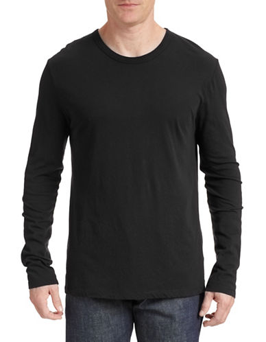 T By Alexander Wang Knit Crew Neck Shirt-BLACK-X-Small