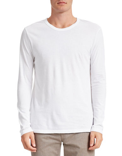T By Alexander Wang Knit Crew Neck Shirt-WHITE-X-Small