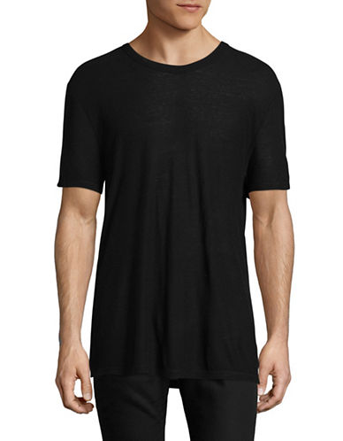 Alexander Wang Slub Rayon-Silk Tee-BLACK-Medium