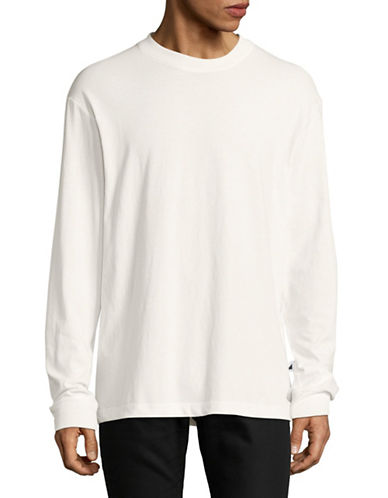 Alexander Wang High-Twist Long Sleeve Jersey Tee-WHITE-Small
