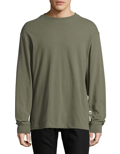 Alexander Wang High-Twist Long Sleeve Jersey Tee-GREEN-Medium