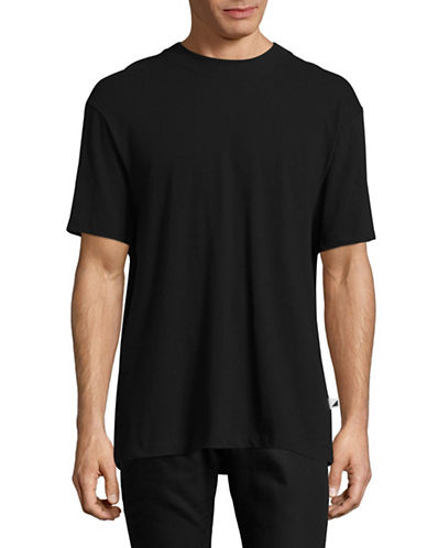 Alexander Wang High-Twist Jersey Tee-BLACK-Small