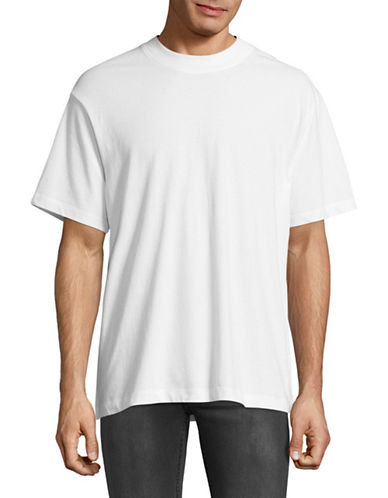 Alexander Wang High-Twist Jersey Tee-WHITE-Medium