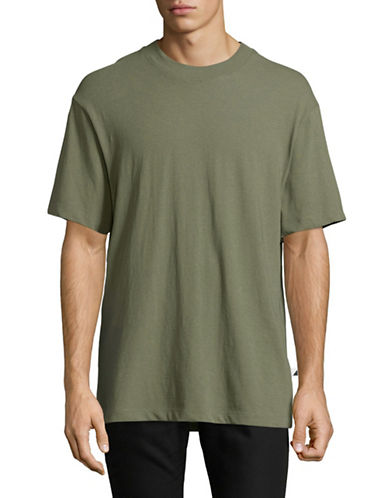 Alexander Wang High-Twist Jersey Tee-GREEN-Small