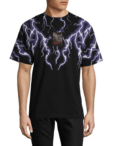 Alexander Wang Lighting Collage Tee-BLACK-Large