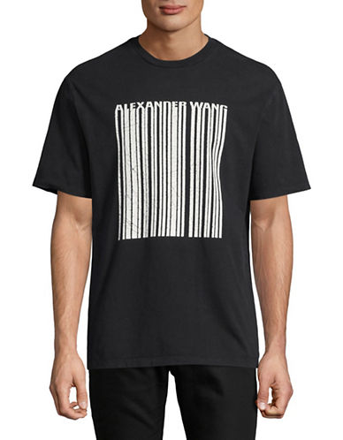 Alexander Wang Cracked Barcode Tee-BLACK-Large