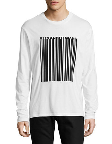 Alexander Wang Barcode Graphic T-Shirt-WHITE-Large 89334516_WHITE_Large