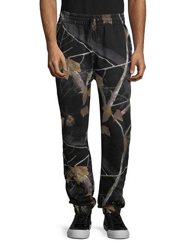 Alexander Wang Winter Camo Fleece Sweatpants-GREY-Large