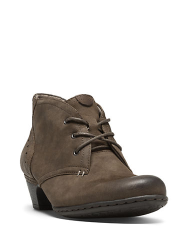 Rockport Cobb Hill Aria Leather Booties-STONE-7.5