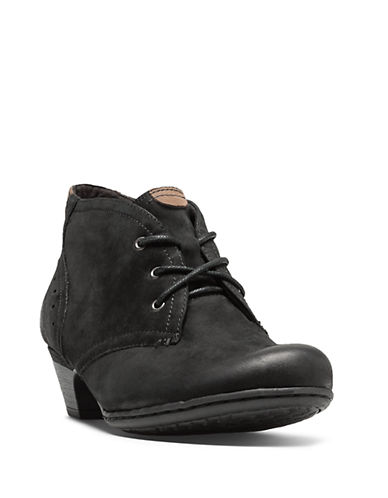 Rockport Cobb Hill Aria Leather Booties-BLACK-6.5