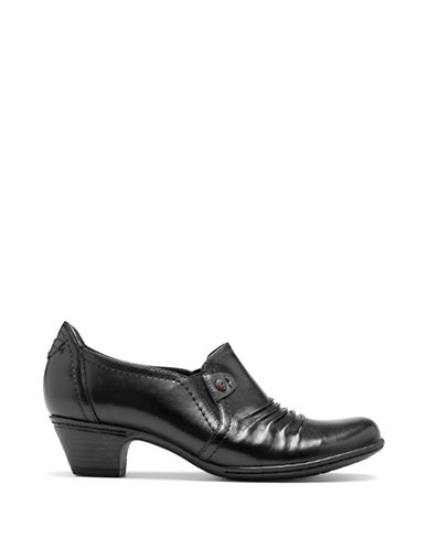 Rockport Cobb Hill Adele Rivet Vamp Dress Shoe-BLACK-8.5
