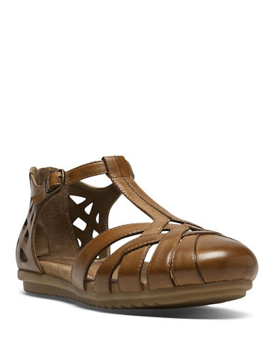 Rockport Cobb Hill Ireland Leather Strap Sandals-TAN-7.5