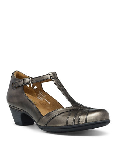 Rockport Cobb Hill Angelina Leather Pumps-METALLIC-9