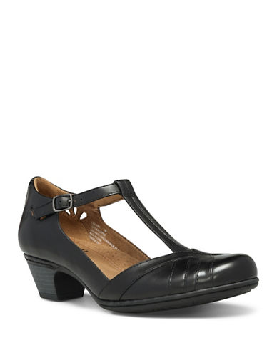 Rockport Cobb Hill Angelina Leather Pumps-BLACK-9
